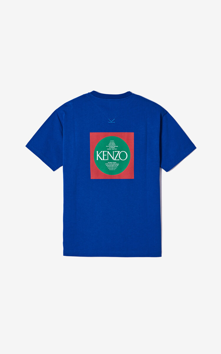 FRENCH BLUE 'Square Logo' T-shirt for men KENZO