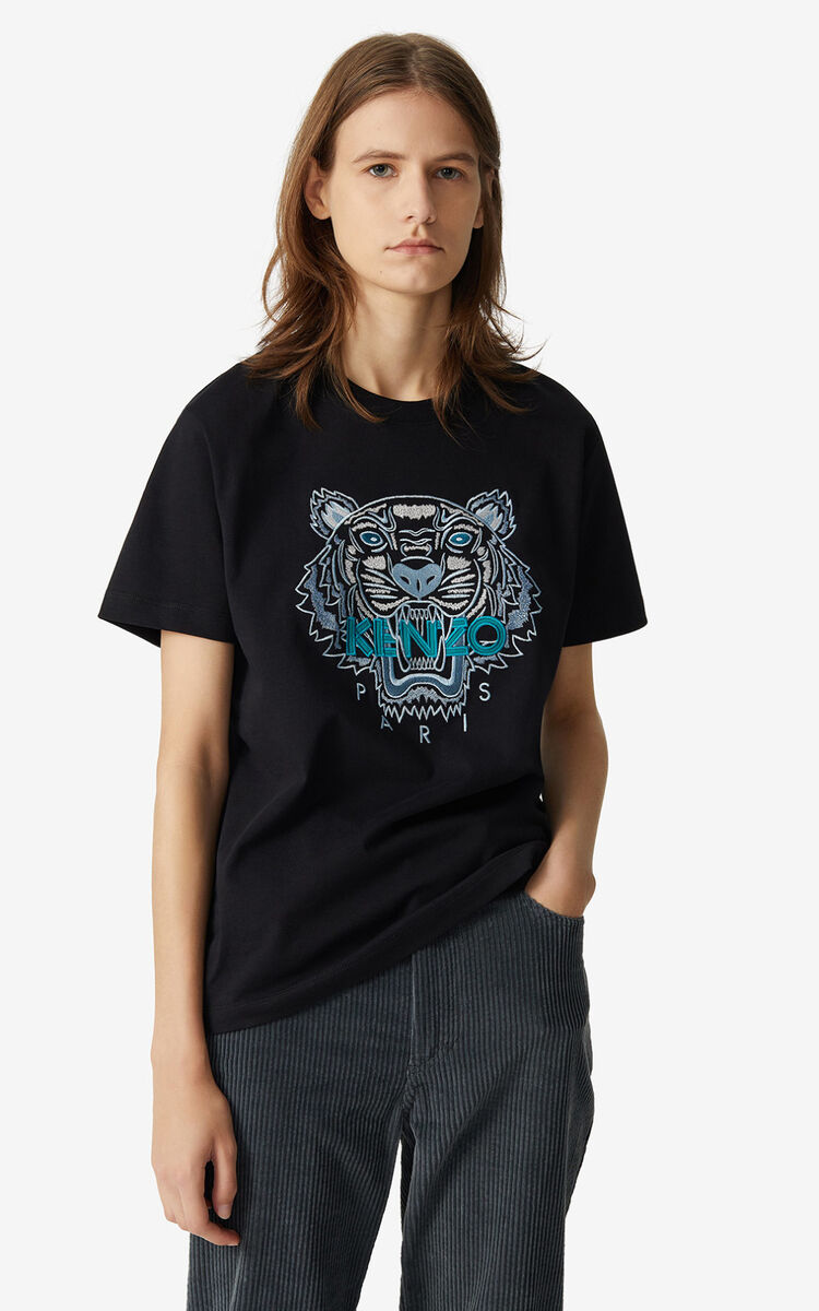 BLACK Tiger loose-fitting T-shirt for women KENZO