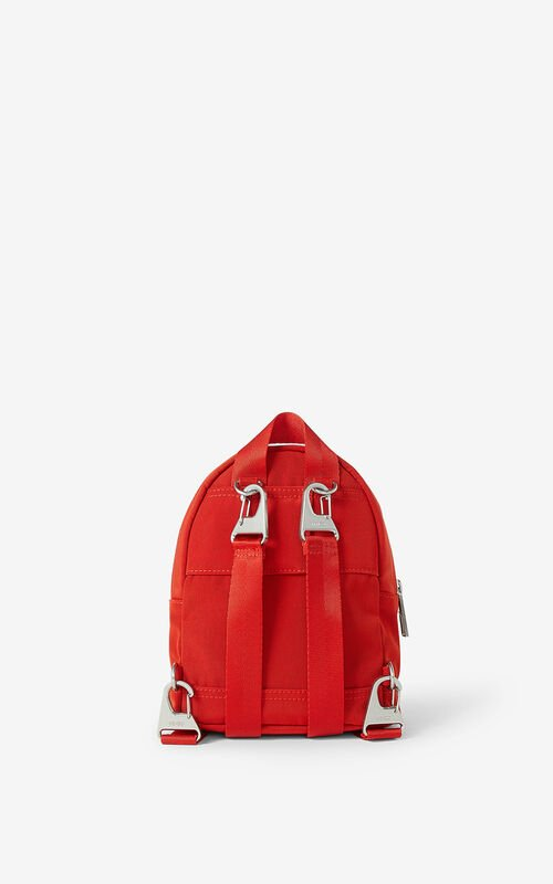 MEDIUM RED 'Chinese New Year Capsule' Kampus Tiger canvas mini rucksack for unisex KENZO