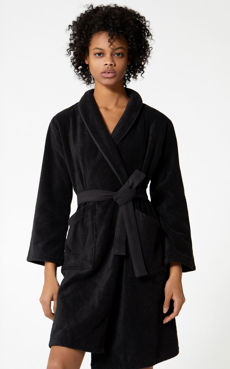Tiger Dressing Gown, BLACK, KENZO