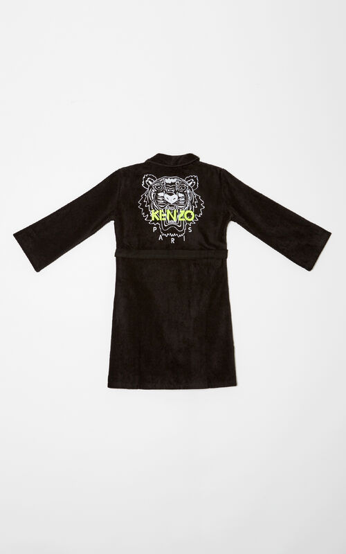 BLACK Tiger Dressing Gown for men KENZO
