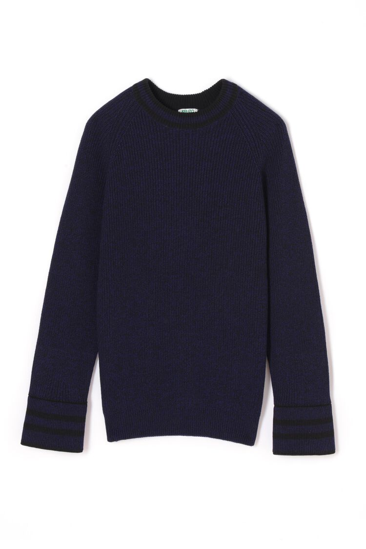 BLACK KENZO ribbed jumper for men