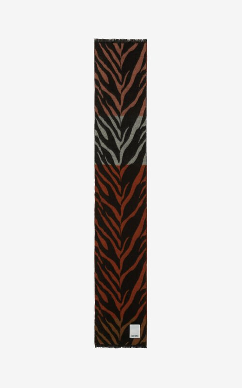POPPY 'Tiger Stripes' scarf for unisex KENZO