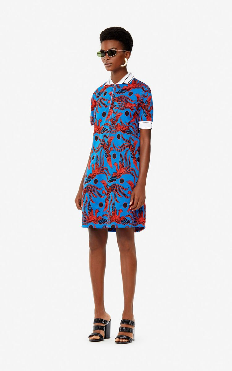 COBALT 'Flying Phoenix' polo dress for women KENZO