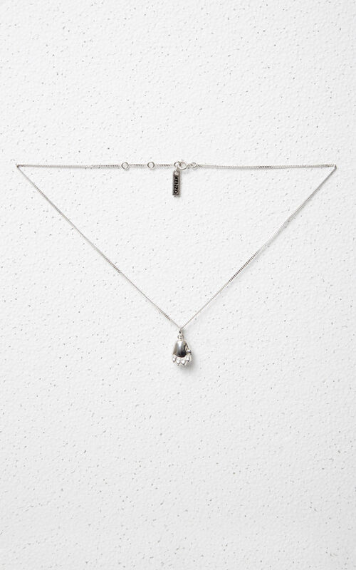 SILVER Tiger Paw Necklace KENZO