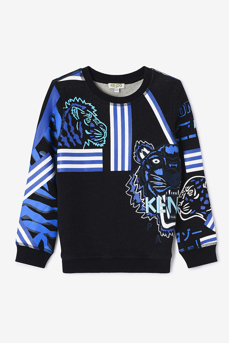 BLACK Tiger Friends Sweatshirt for women KENZO