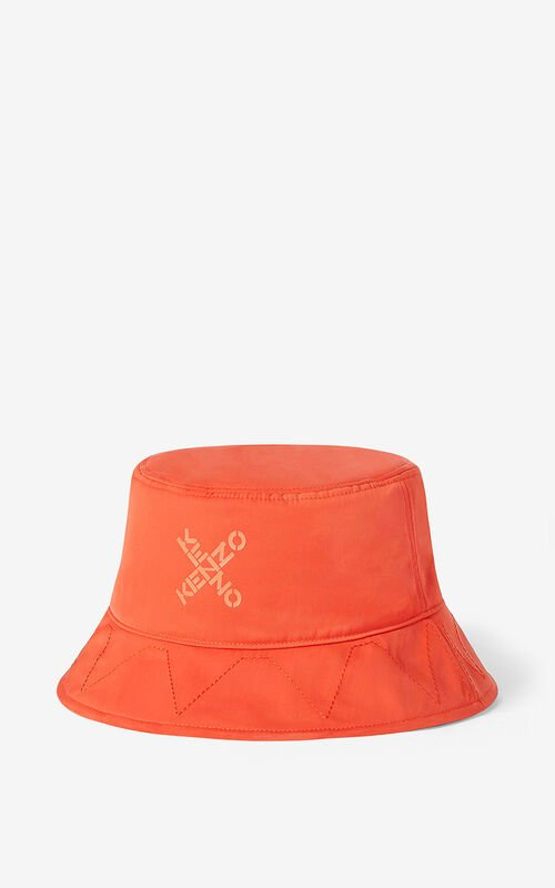 DEEP ORANGE KENZO Sport 'Little X' bucket hat for unisex
