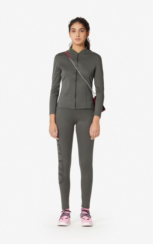 DARK KHAKI Kenzo Logo legging for women