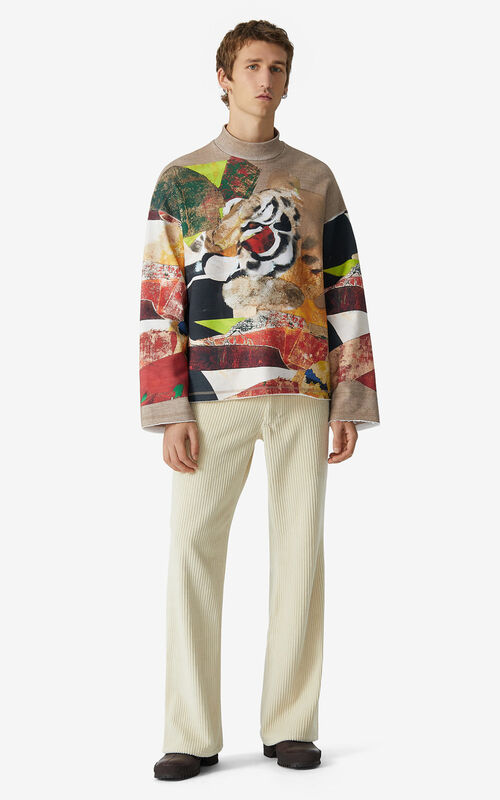 MULTICOLOR Sweatshirt with  Júlio Pomar illustration for men KENZO