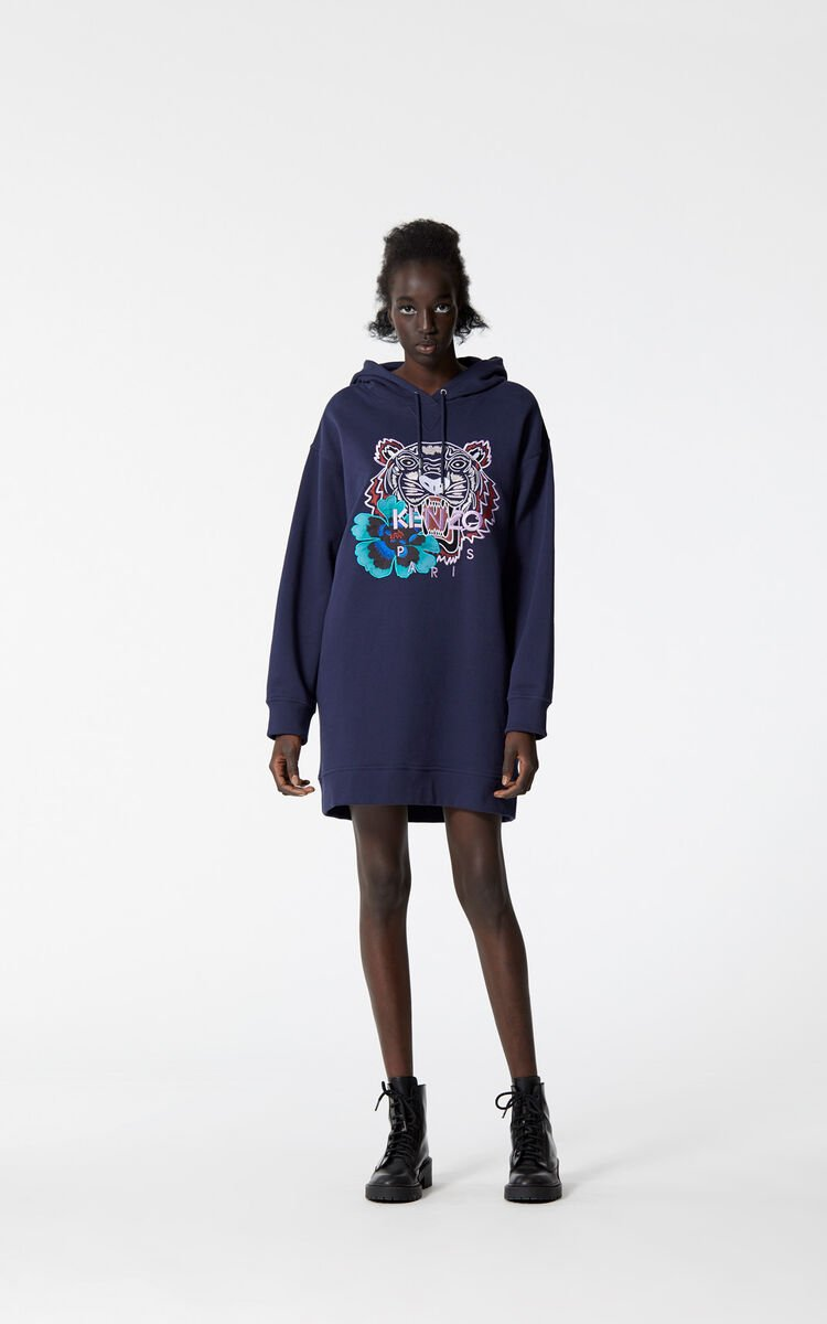 INK 'Indonesian Flower' Tiger sweatshirt dress for women KENZO