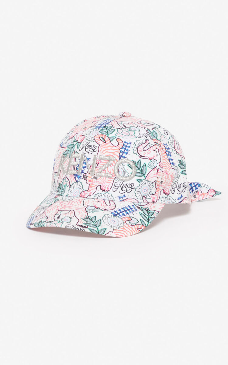 WHITE 'Disco Jungle' cap  for women KENZO