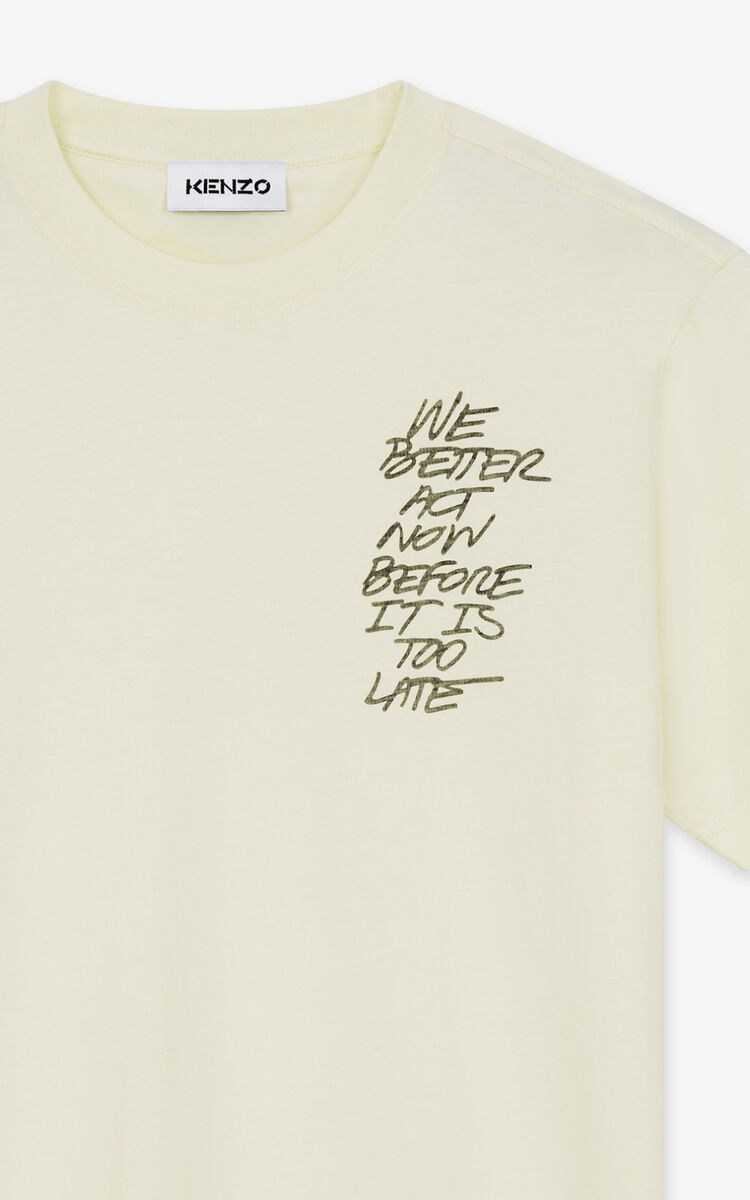 T-shirt 'We better act now' VANILLE homme KENZO