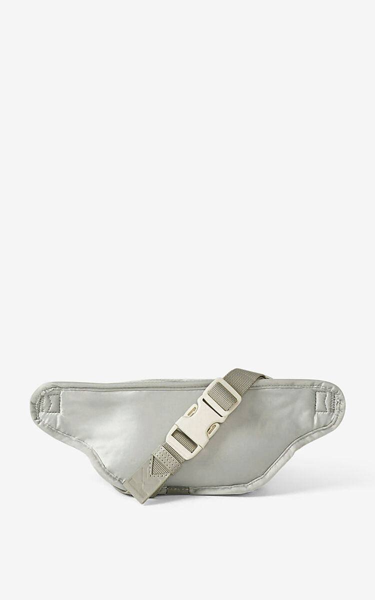 PALE GREY KENZO Sport small bumbag for men