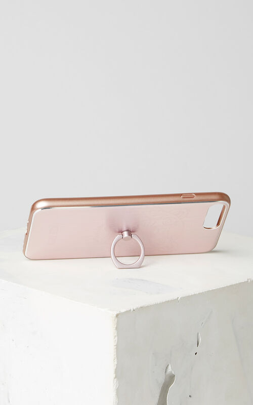 PASTEL PINK Tiger iPhone 7+/8+ case with ring for unisex KENZO