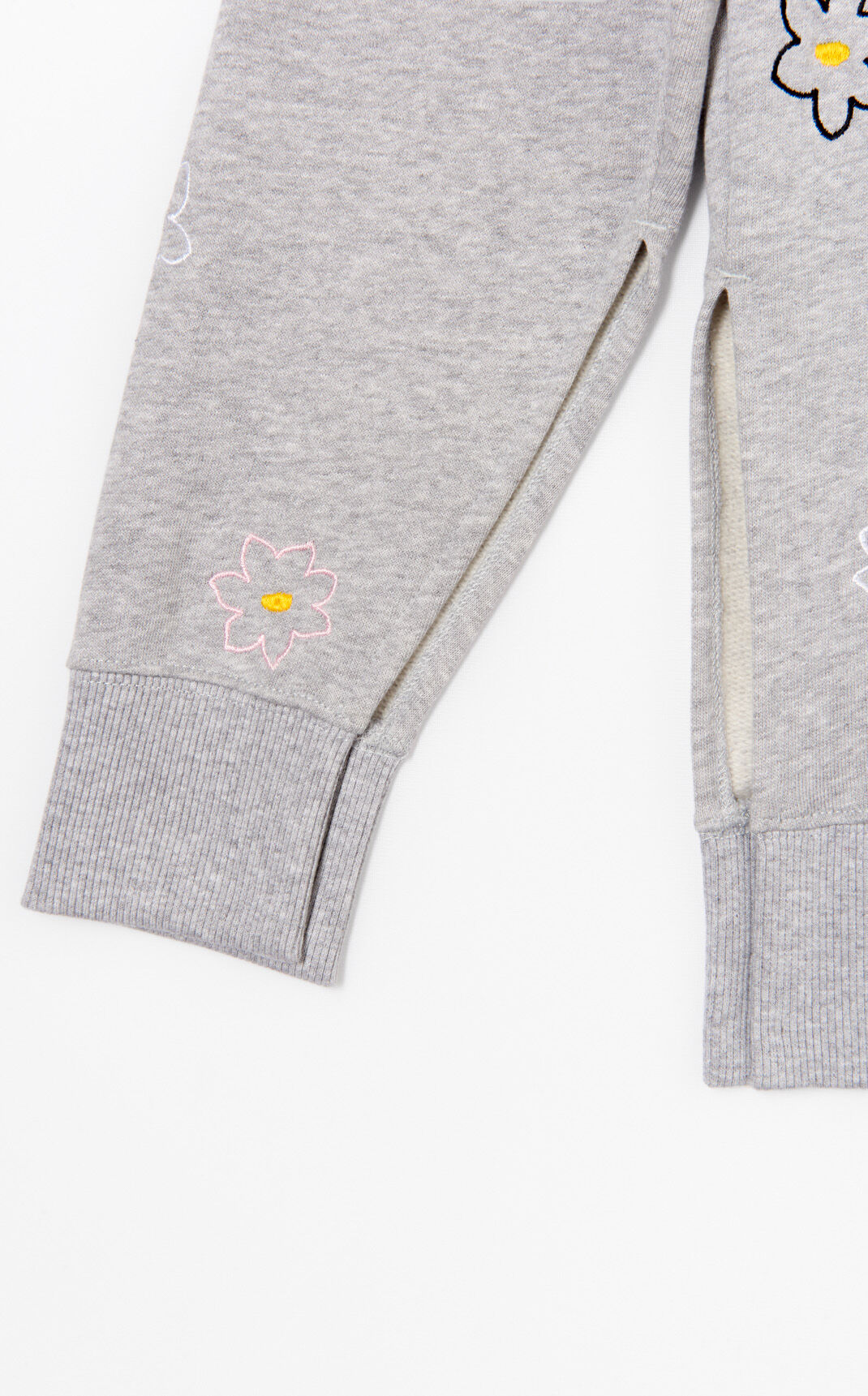 PALE GREY 'Jackie Flowers' slit sweatshirt for women KENZO