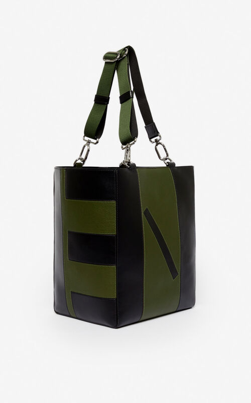 DARK KHAKI Kube Tote Bag for unisex KENZO