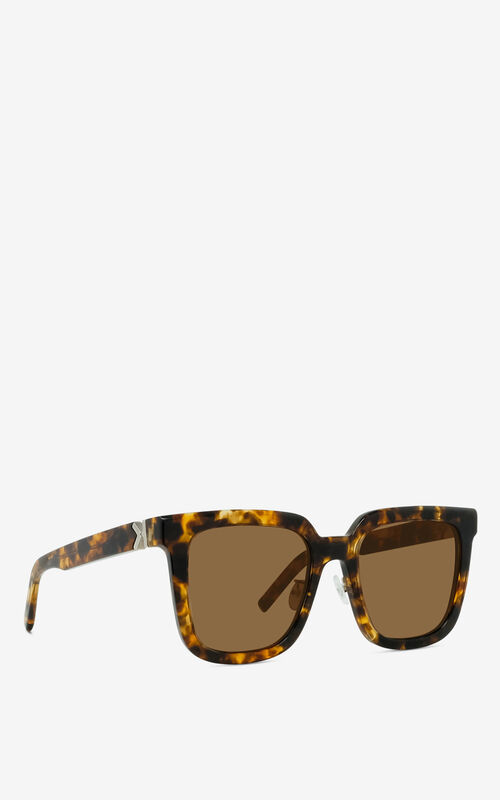 DARK CAMEL K Logo sunglasses for unisex KENZO