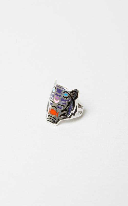 DEEP PINK Colored Tiger ring KENZO