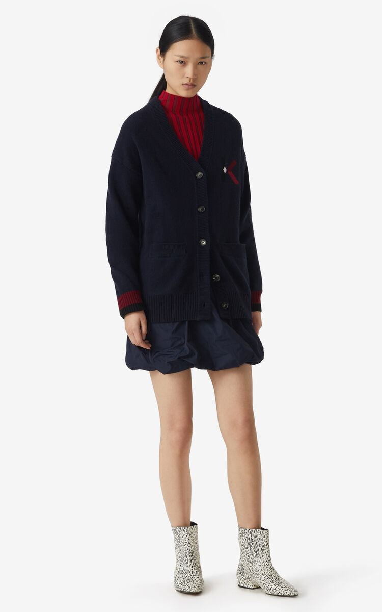 NAVY BLUE K Logo cardigan for women KENZO