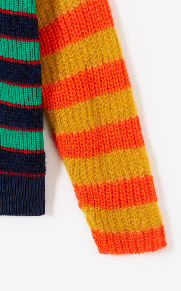 MULTICOLOR Striped turtleneck jumper for women KENZO