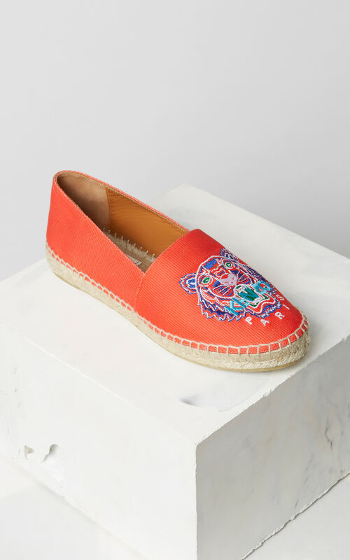 MEDIUM RED Tiger espadrilles for unisex KENZO