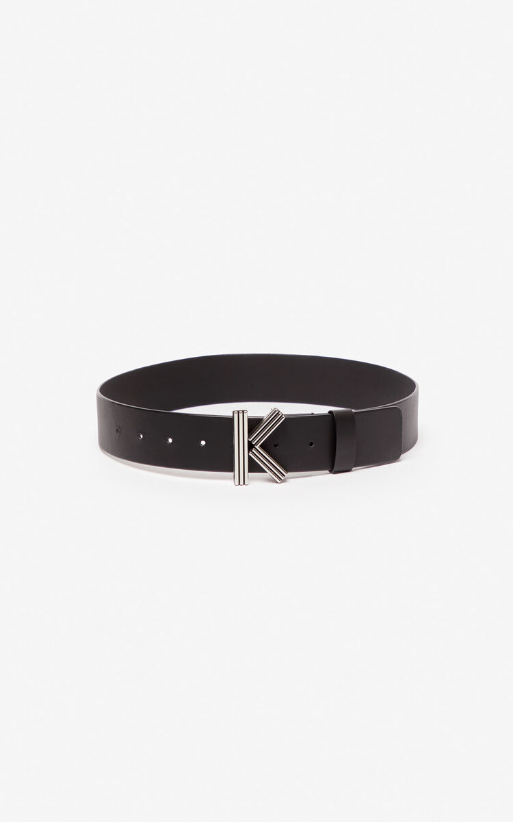 BLACK Wide K-Bag belt for unisex KENZO