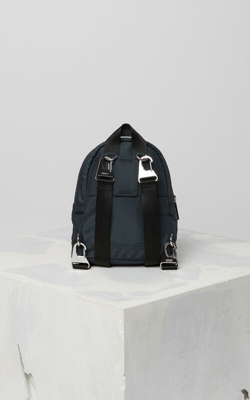 DARK GREY Mini Tiger Canvas backpack for men KENZO