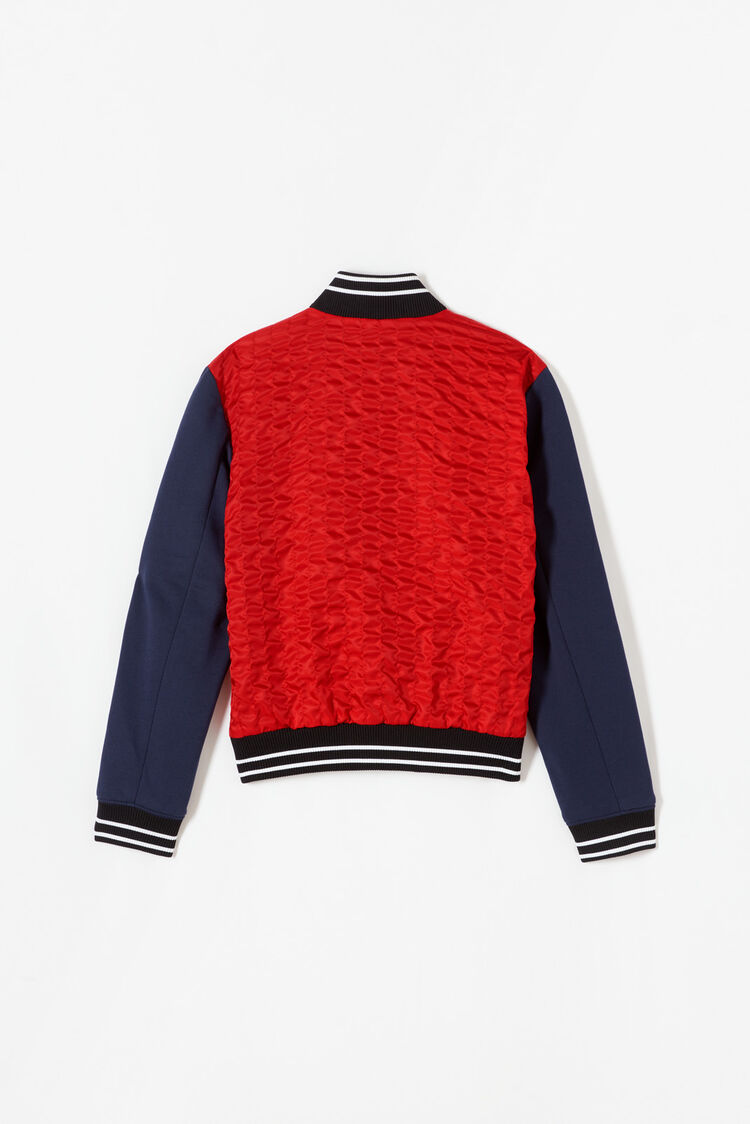 MEDIUM RED Textured Teddy Jacket for men KENZO