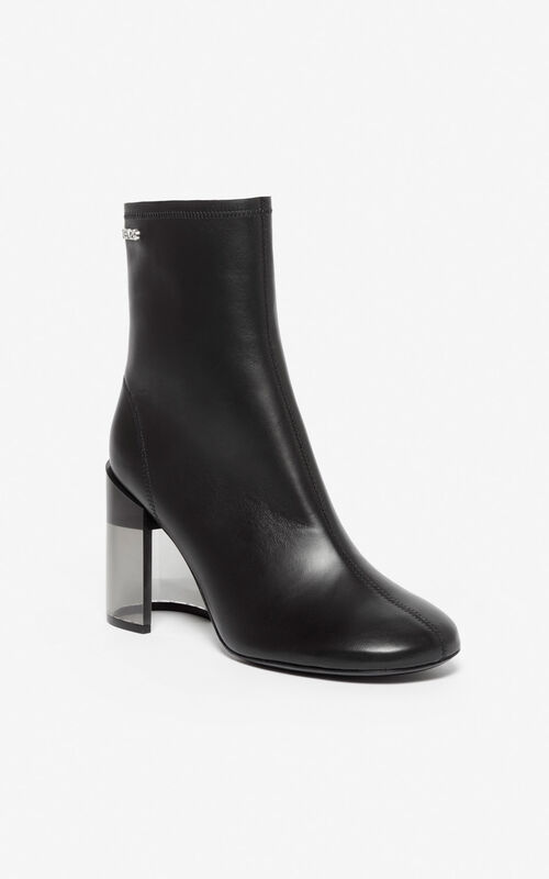 BLACK K-Round ankle boots for unisex KENZO