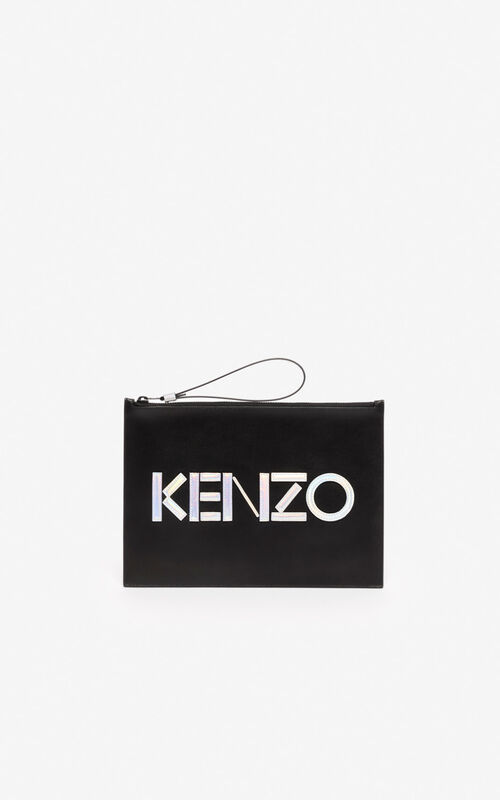 BLACK A4 KENZO Kontrast clutch for unisex