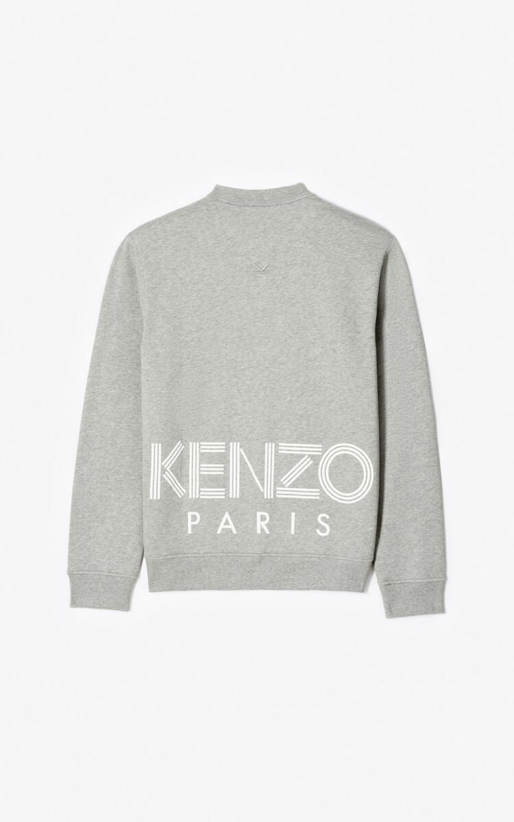 PEARL GREY KENZO Logo sweatshirt for men