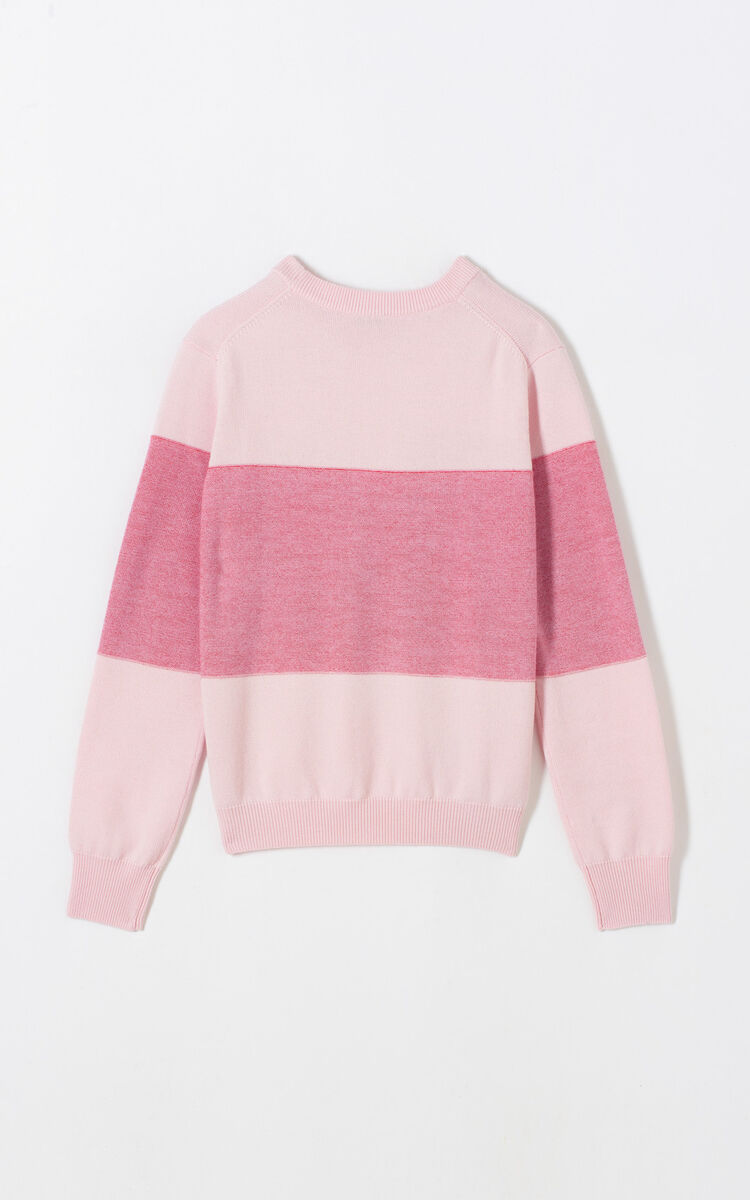 PASTEL PINK 'K' colourblock jumper for women KENZO