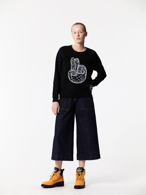 BLACK Peace World' Sweatshirt  for women KENZO