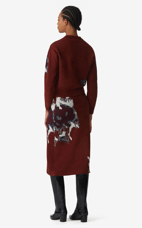 MOROCCAN BROWN Jacquard jumper for women KENZO