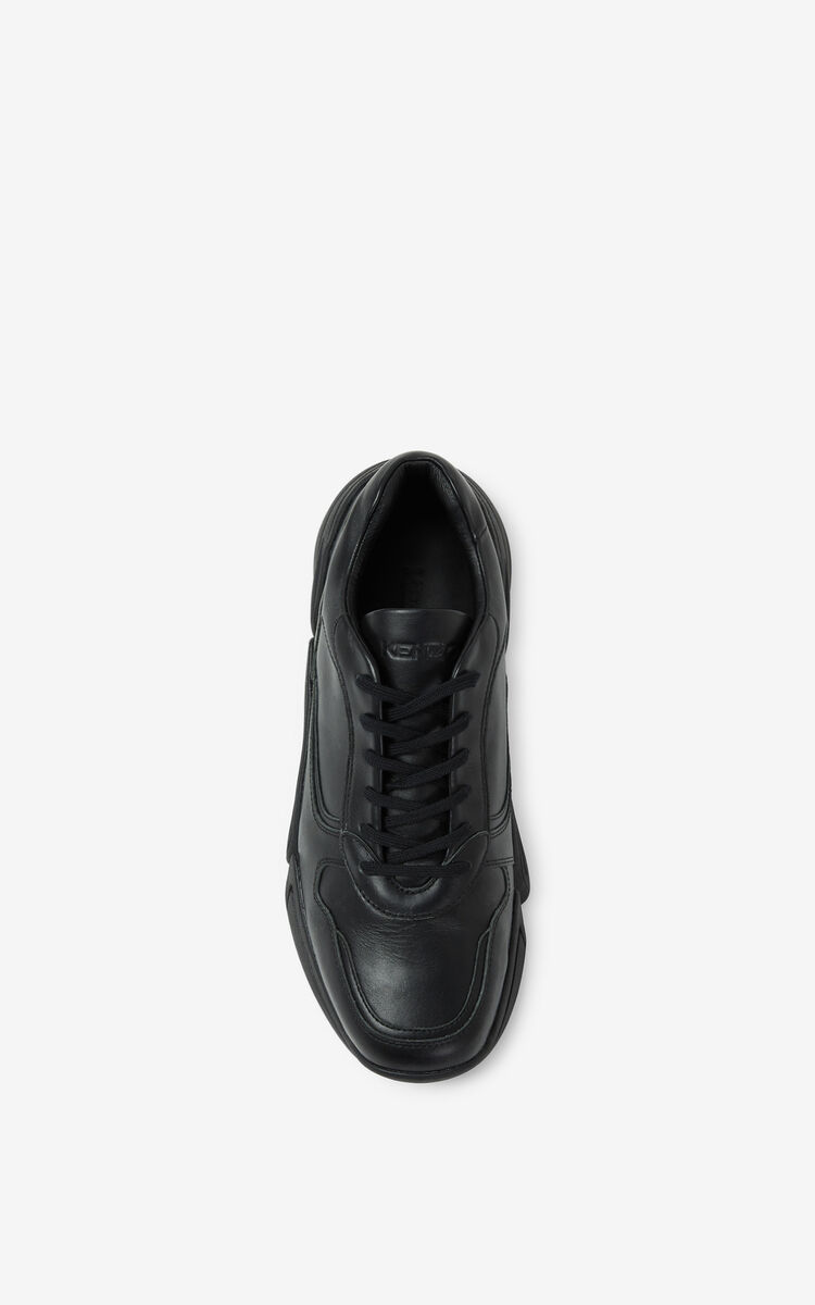 BLACK Kross leather sneakers for unisex KENZO