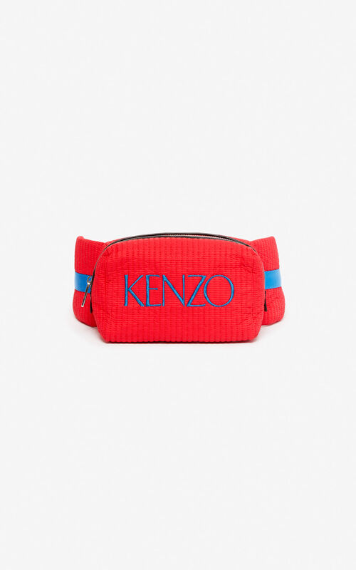 MEDIUM RED Colourblock bumbag for unisex KENZO