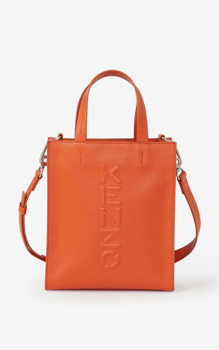 PAPRIKA KENZO Imprint small grained leather tote bag for men