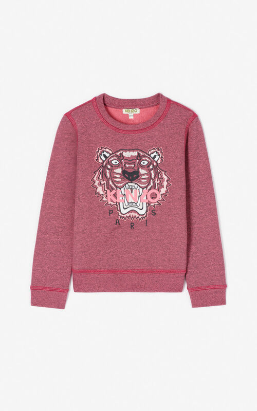 FLAMINGO PINK Tiger sweatshirt for men KENZO