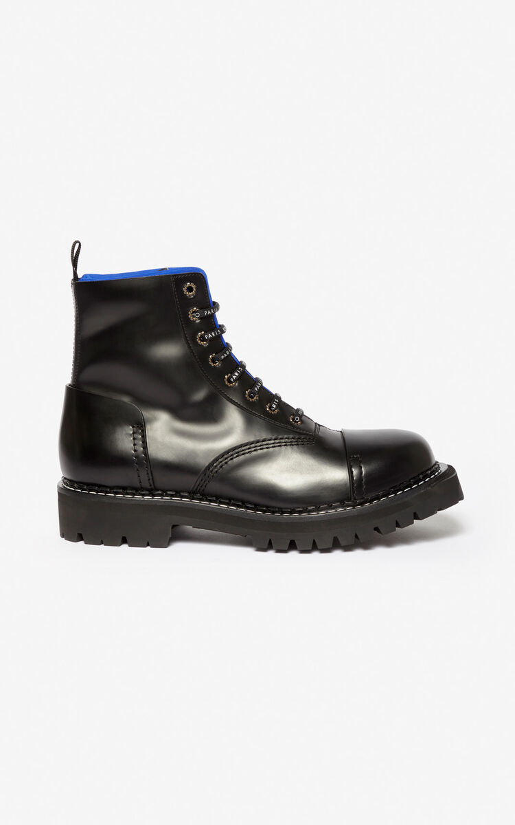 FRENCH BLUE Two-tone Pike boots for unisex KENZO