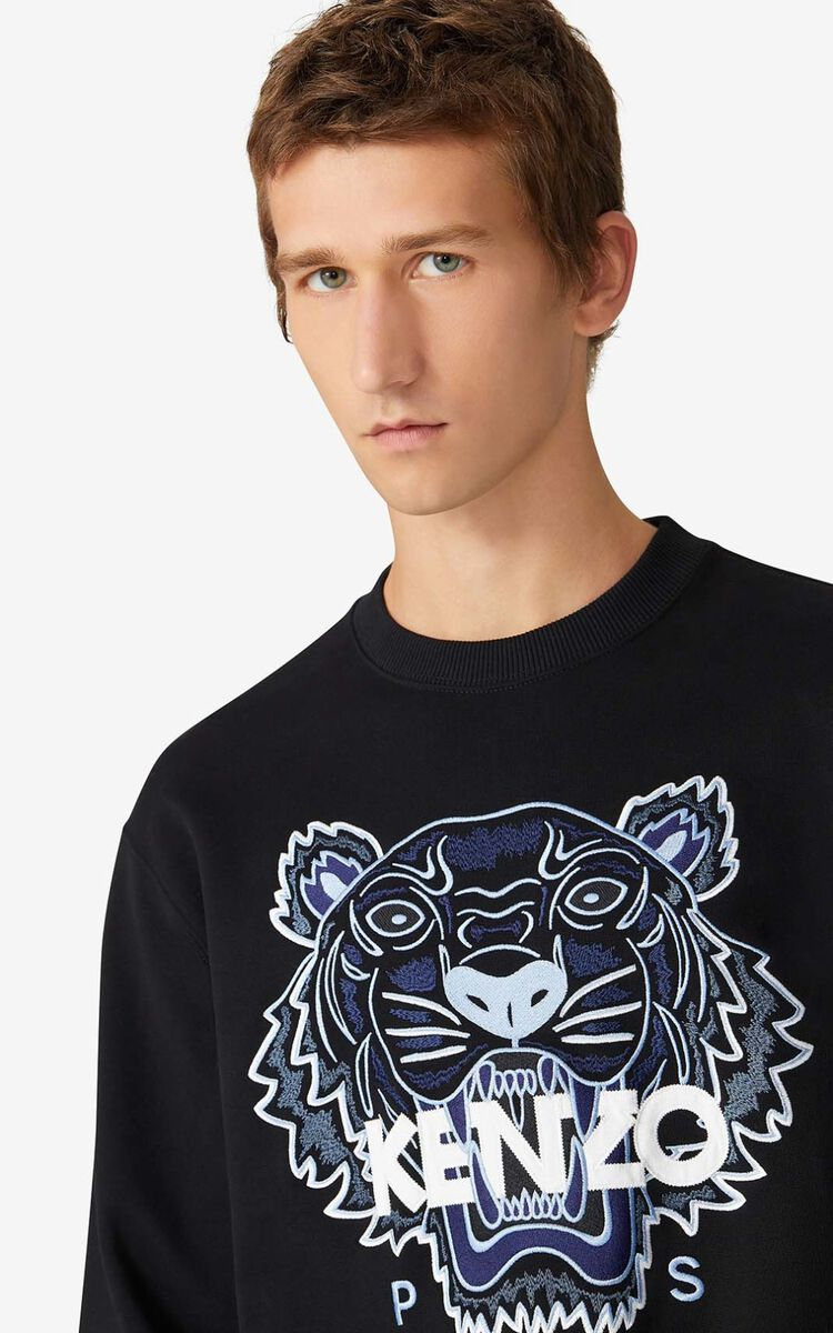 BLACK 'Tiger' sweatshirt for men KENZO