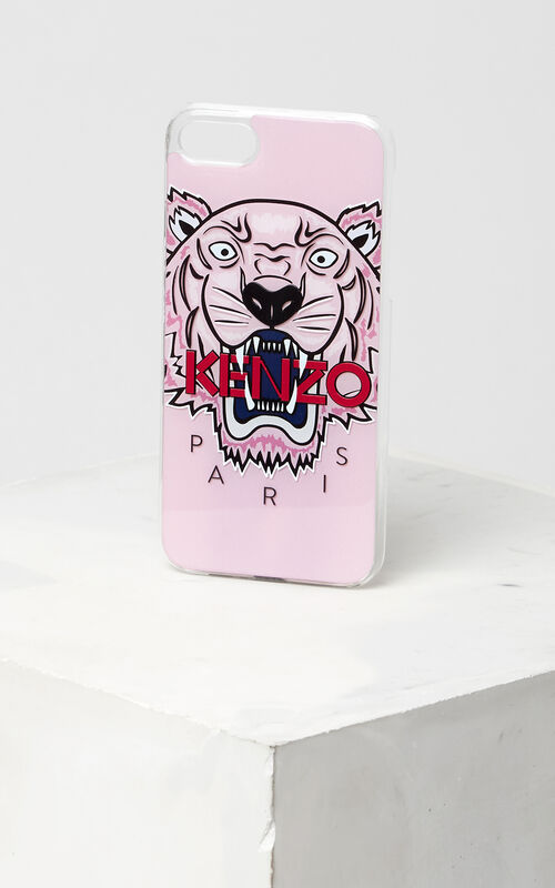 FADED PINK 3D Tiger iPhone 7+/8+ case for women KENZO