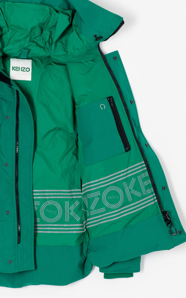 BOTTLE GREEN Quilted down jacket for men KENZO