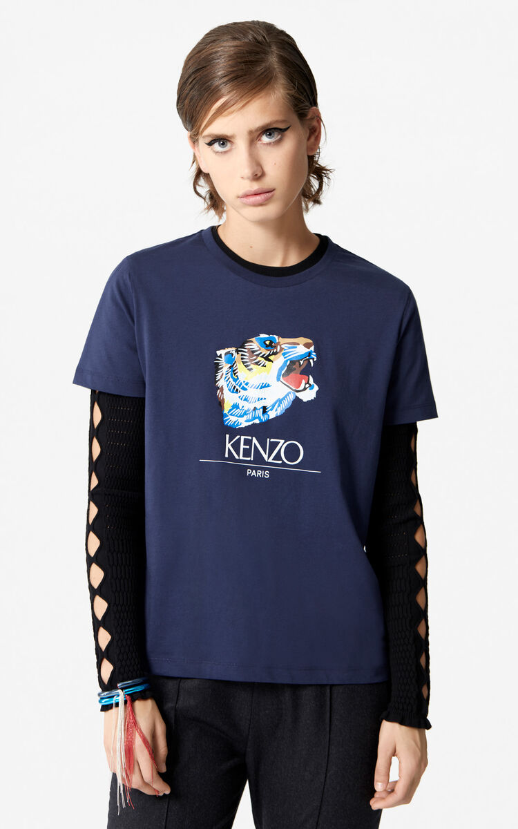 INK 'Tiger Head' T-Shirt 'Go Tigers Capsule' for unisex KENZO