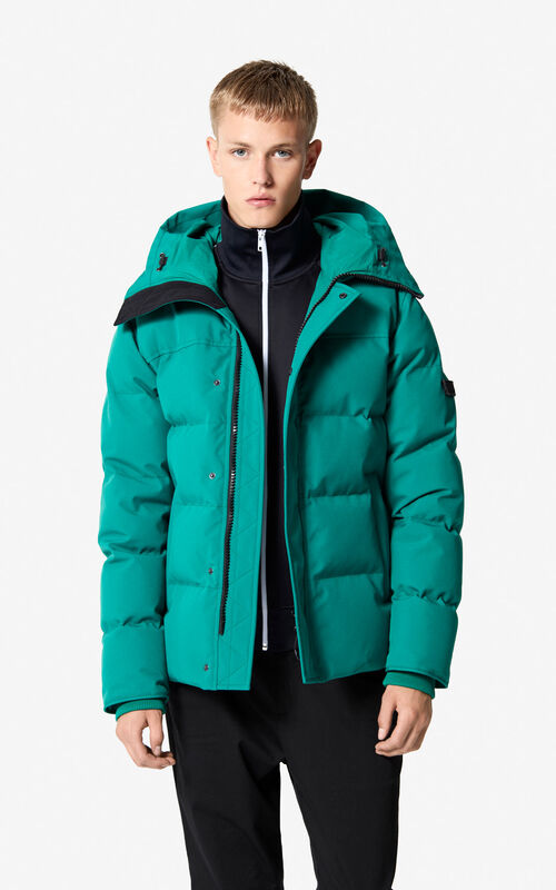 ac424b2ad1e3 BOTTLE GREEN Quilted down jacket for women KENZO ...