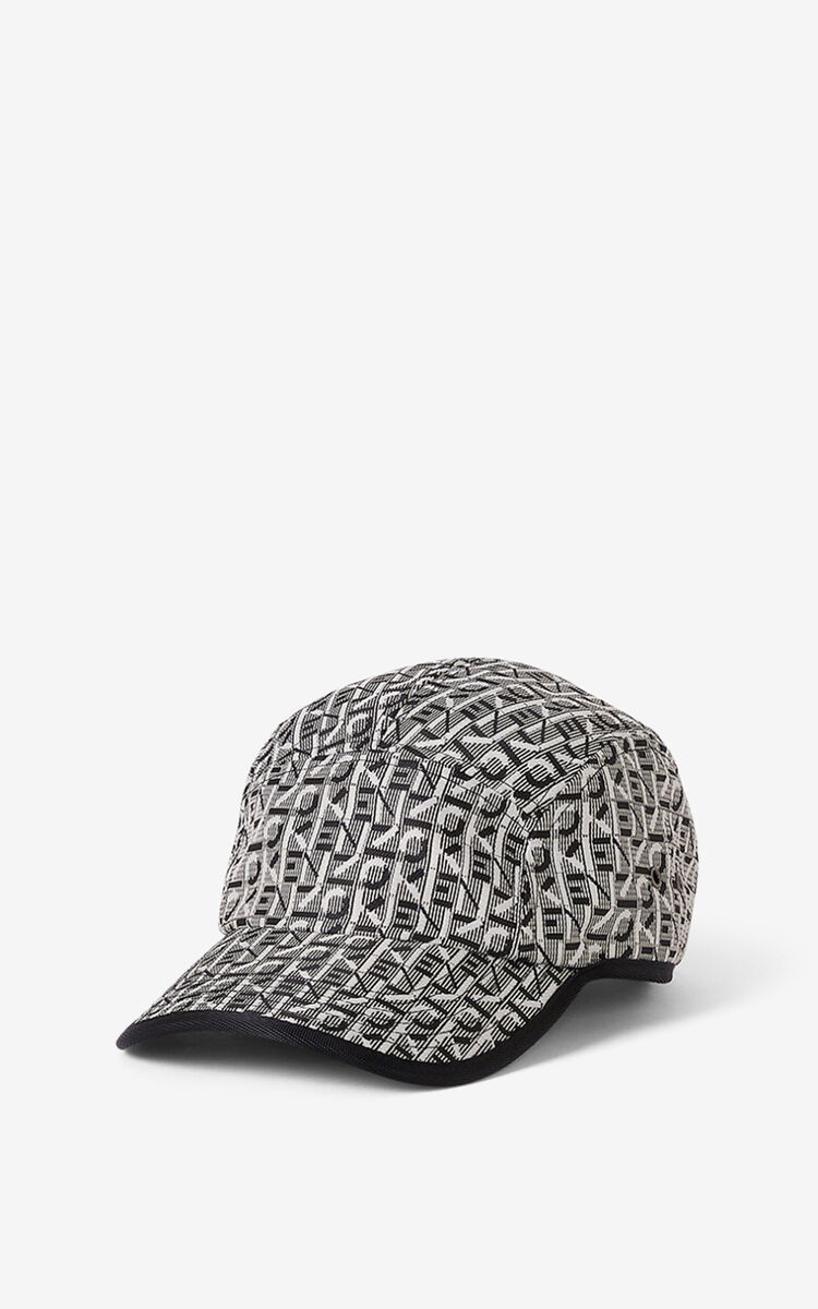 MISTY GREY Courier monogrammed cap for unisex KENZO