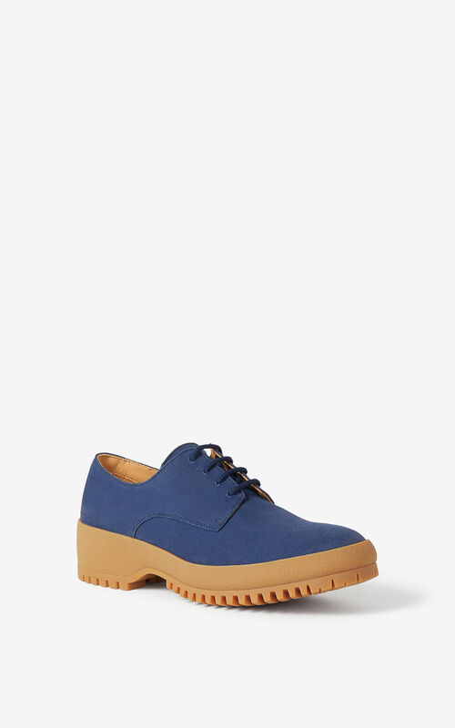 MIDNIGHT BLUE KENZO Trek derbies for unisex