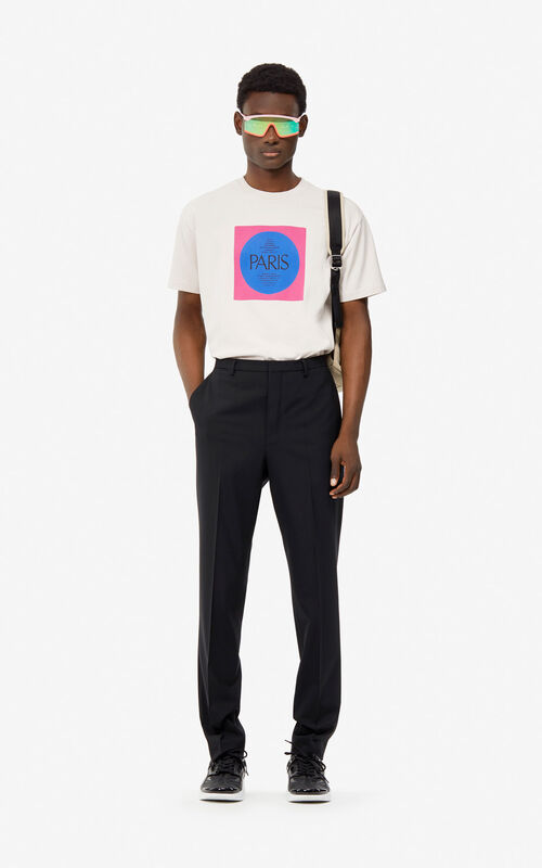 CREAM 'Square Logo' T-shirt for men KENZO
