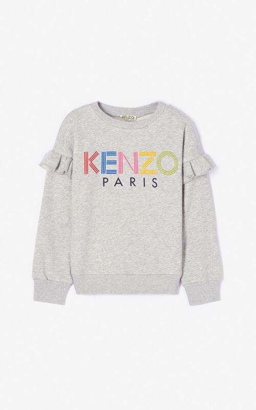 MIDDLE GREY KENZO logo sweatshirt for women