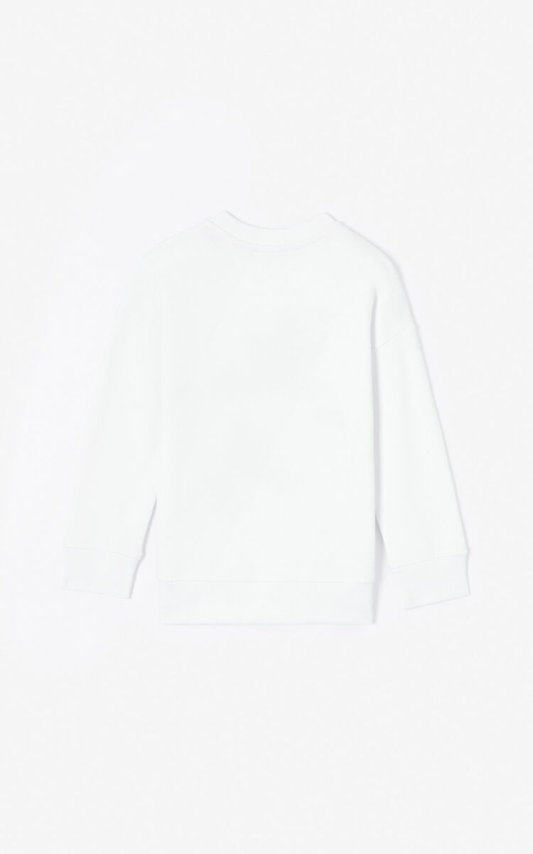 WHITE 'Phoenix Celebration' sweatshirt for women KENZO