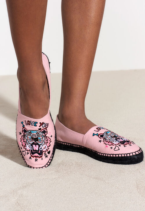 Tiger x I Love You  Espadrilles, FADED PINK, KENZO